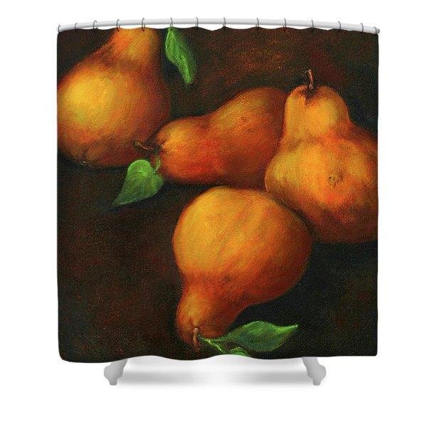 Honey Pears Shower Curtain