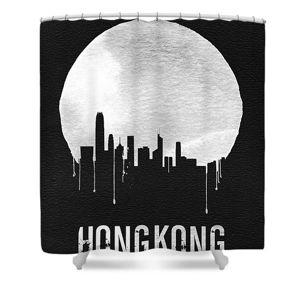 Hong Kong Skyline Black Shower Curtain