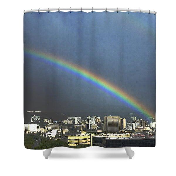 Honolulu Rainbow Shower Curtain