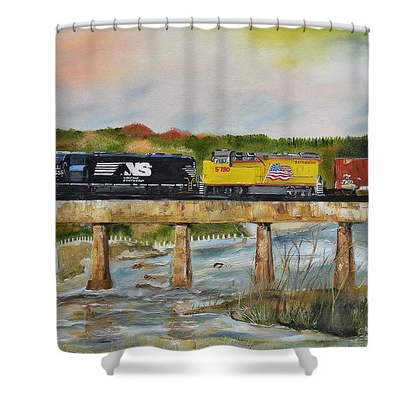 Hooch - Chattahoochee River - Columbus Ga Shower Curtain