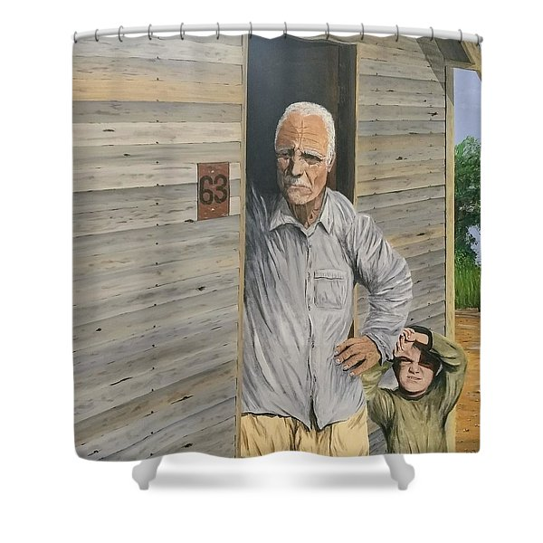 Shower Curtain featuring the painting Hooper Ranch #63 by Kevin Daly
