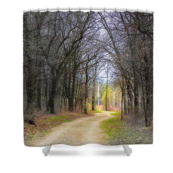 Hope In A Dark Forest Shower Curtain