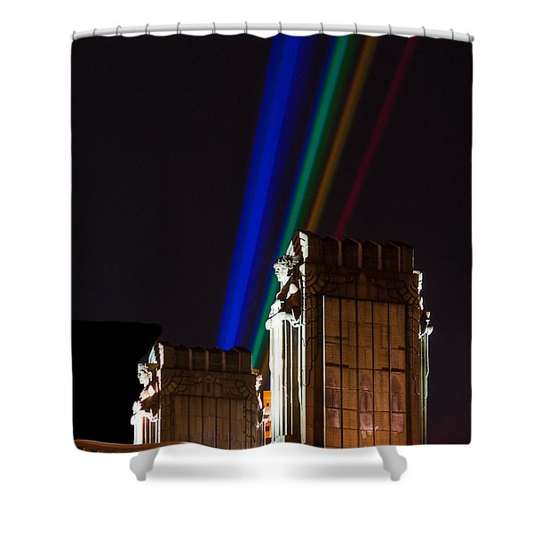 Hope Memorial Bridge, Aha Lights Shower Curtain