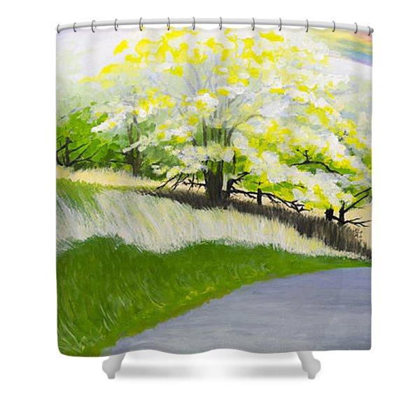 Hopeful Sojourn Shower Curtain