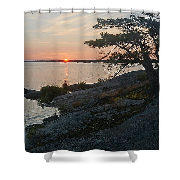 Hopewell Bay Island Sunrise1 Shower Curtain