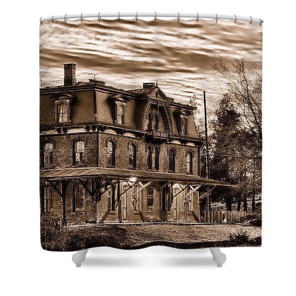 Hopewell Station Shower Curtain