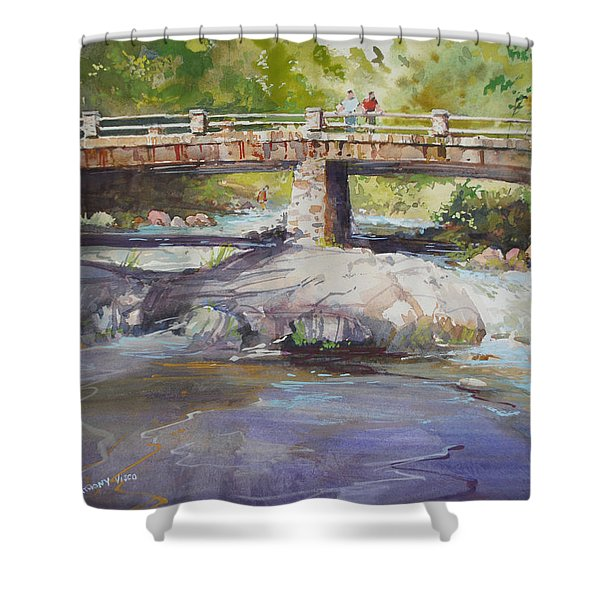 Hopper Bridge Creek Shower Curtain