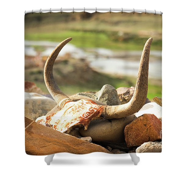 Horn And Valley Tibet Yantra.lv Shower Curtain