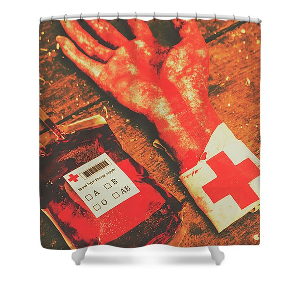 Horror Hospital Scenes Shower Curtain