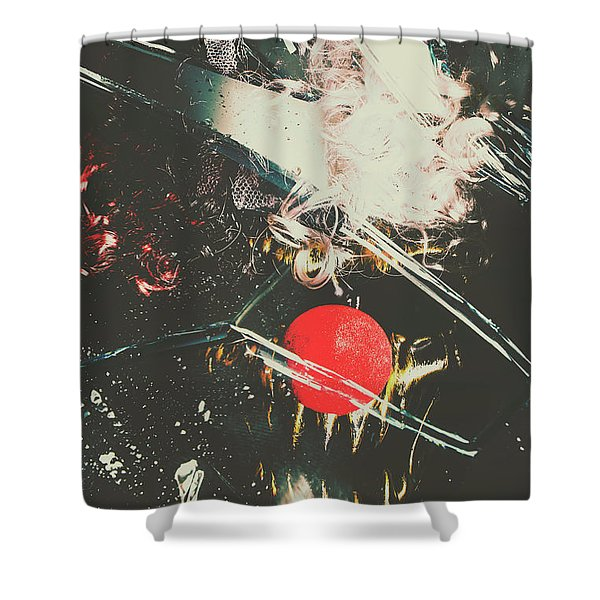 Horror House Of Mirror Shower Curtain