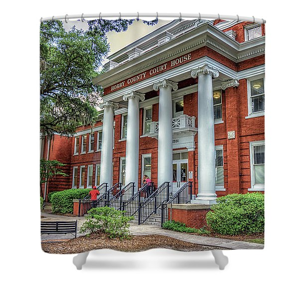 Horry County Court House Shower Curtain