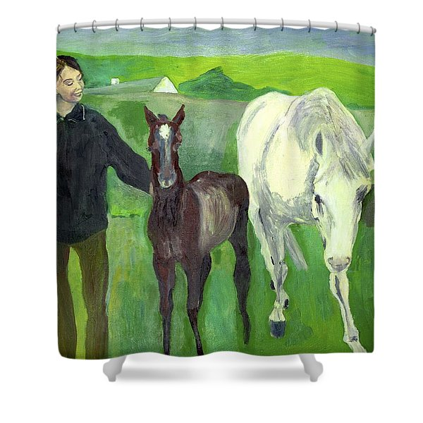 Horse And Foal Shower Curtain