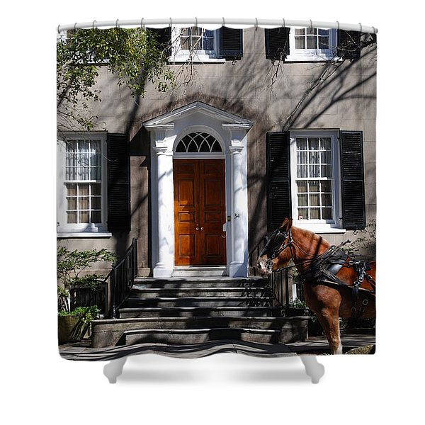 Horse Carriage In Charleston Shower Curtain
