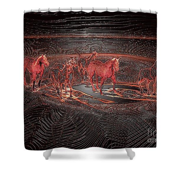 Horse Chestnut Pass Shower Curtain