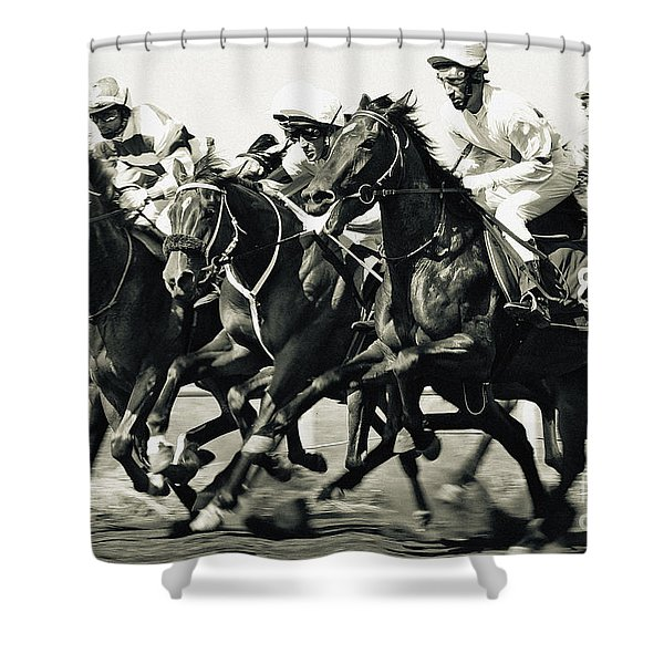 Horse Competition Vi - Horse Race Shower Curtain