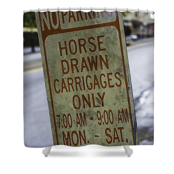 Horse Drawn Carriage Parking Shower Curtain