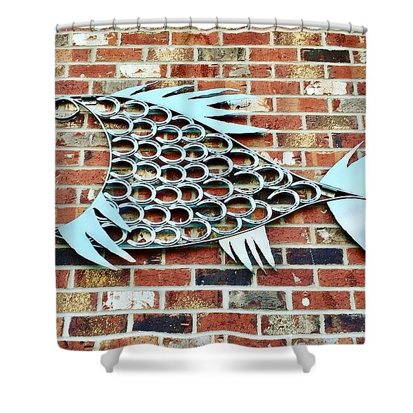 Fish Shoe  Shower Curtain