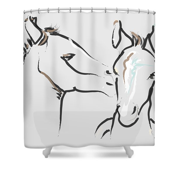 Horse-foals-together 6 Shower Curtain