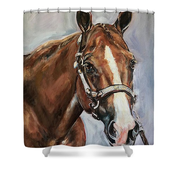Horse Head Portrait Shower Curtain