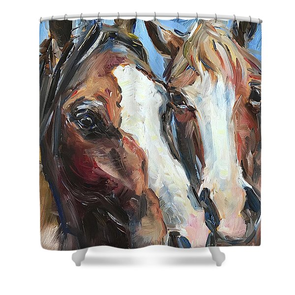 Horse Heads Shower Curtain