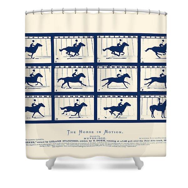 Horse In Motion - Sallie Gardner At A Gallop Shower Curtain