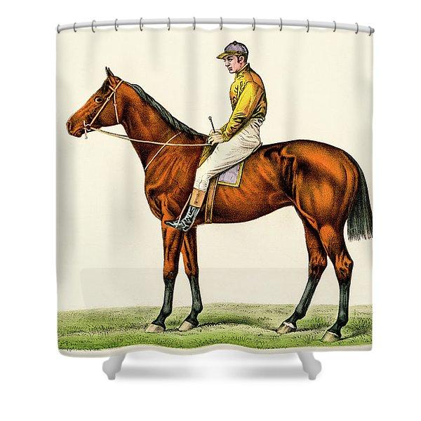 Horse Jockey Shower Curtain