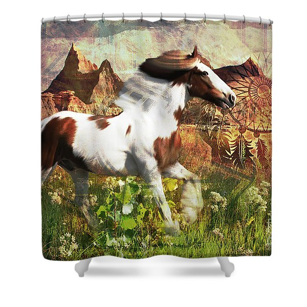 Horse Medicine 2015 Shower Curtain