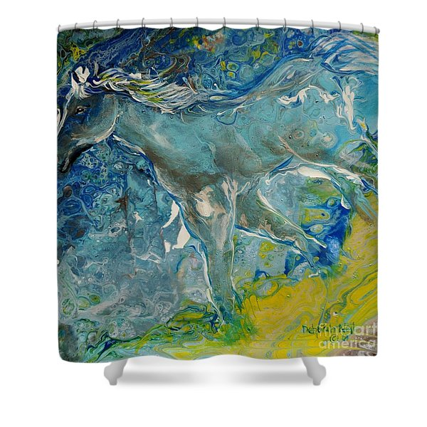 Shower Curtain featuring the painting Horse Of A Different Color by Deborah Nell
