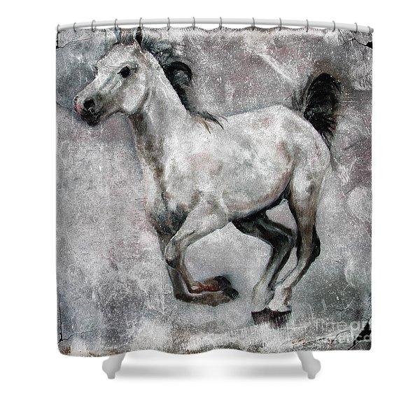 Horse Painting Stallion Lipizzaner Shower Curtain