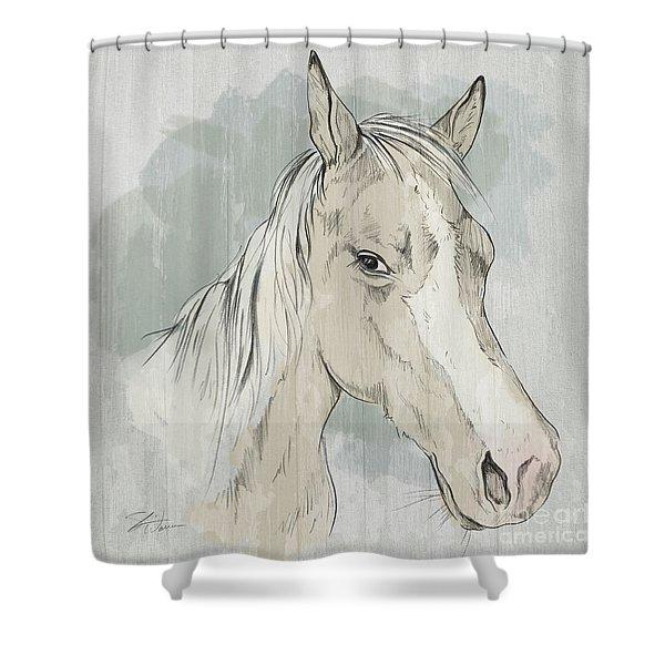 Horse Portrait-farm Animals Shower Curtain