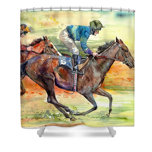 Horse Races Shower Curtain