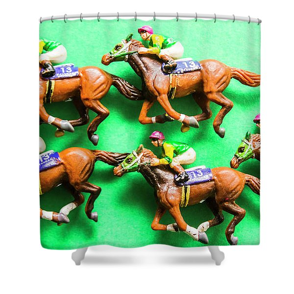Horse Racing Carnival Shower Curtain