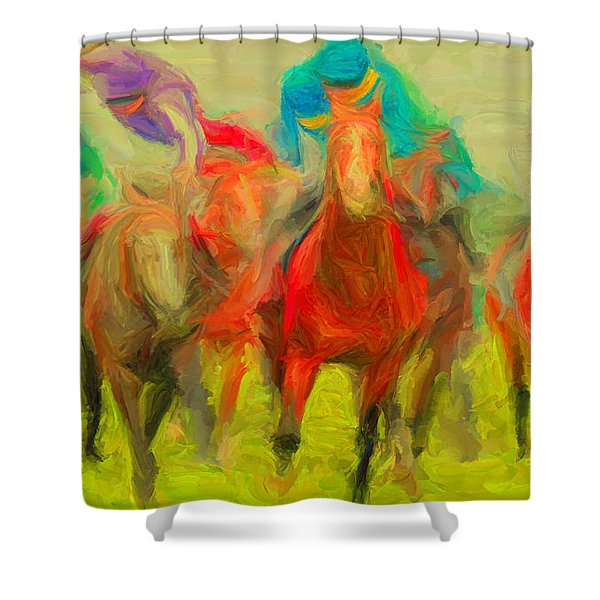 Horse Tracking Shower Curtain