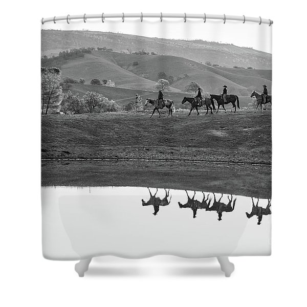 Horseback Landscape Shower Curtain