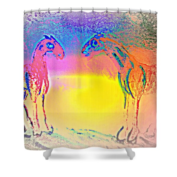 We Are Like The Horses Of Our Dreams And They Like Us  Shower Curtain