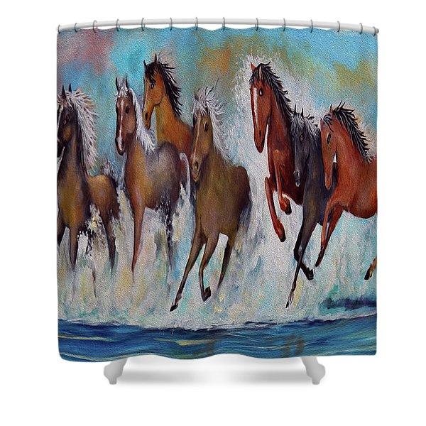 Horses Of Success Shower Curtain
