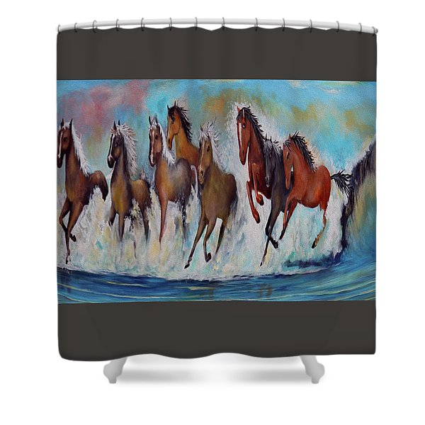 Horses Of Success Shower Curtain