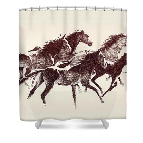 Horses3 Mug Shower Curtain