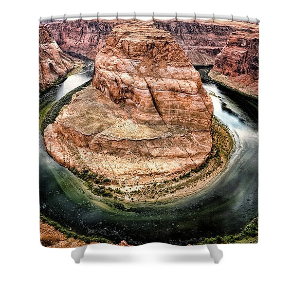 Horseshoe Bend Colorado River Shower Curtain