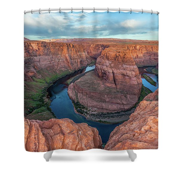 Horseshoe Bend Morning Splendor Shower Curtain