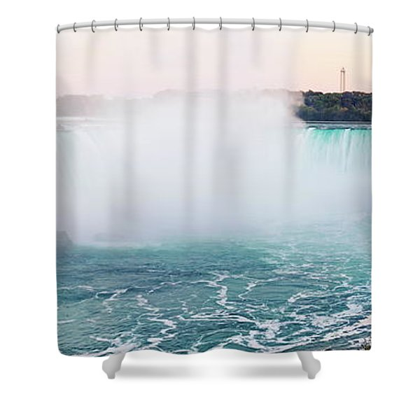 Horseshoe Falls At Dusk Shower Curtain