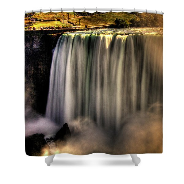 Horseshoe Falls Early Autumn No 03 Shower Curtain