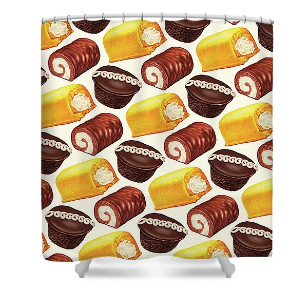 Hostess Cakes Pattern Shower Curtain