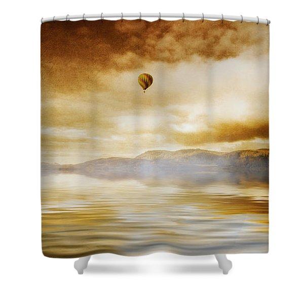 Hot Air Balloon Escape Shower Curtain