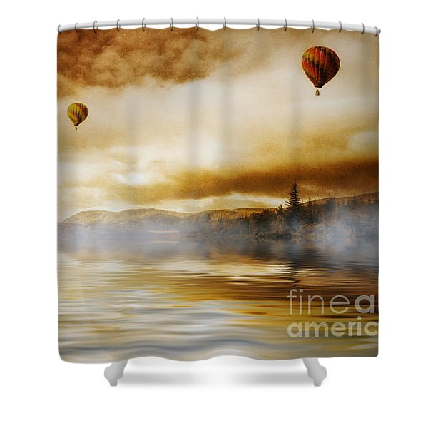 Hot Air Balloon Escape Shower Curtain