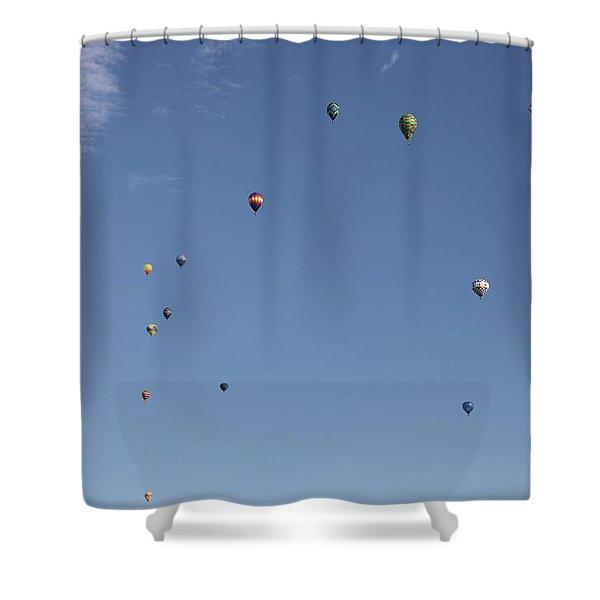 Hot Air Rising  Shower Curtain