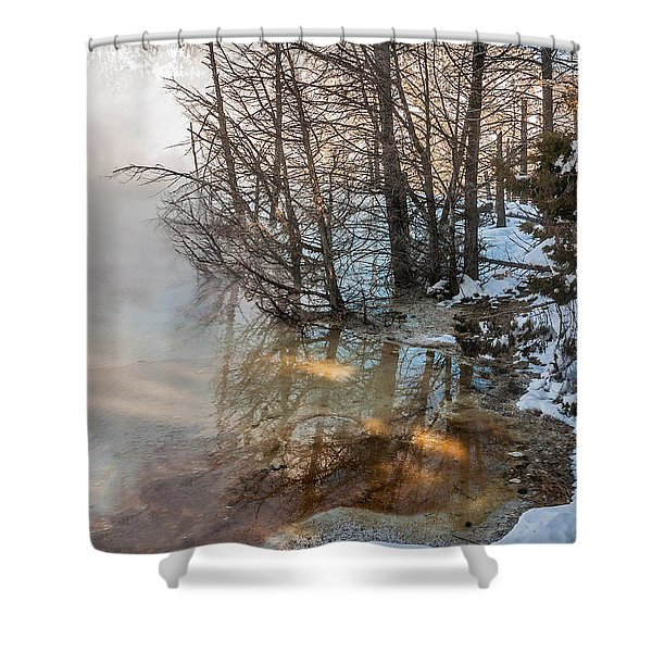 Hot And Cold In Yellowstone Shower Curtain