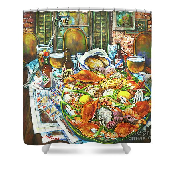 Hot Boiled Crabs Shower Curtain