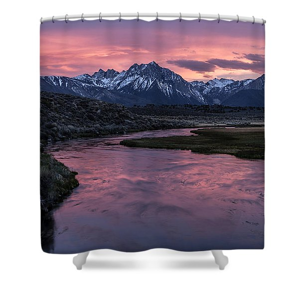 Hot Creek Sunset Shower Curtain