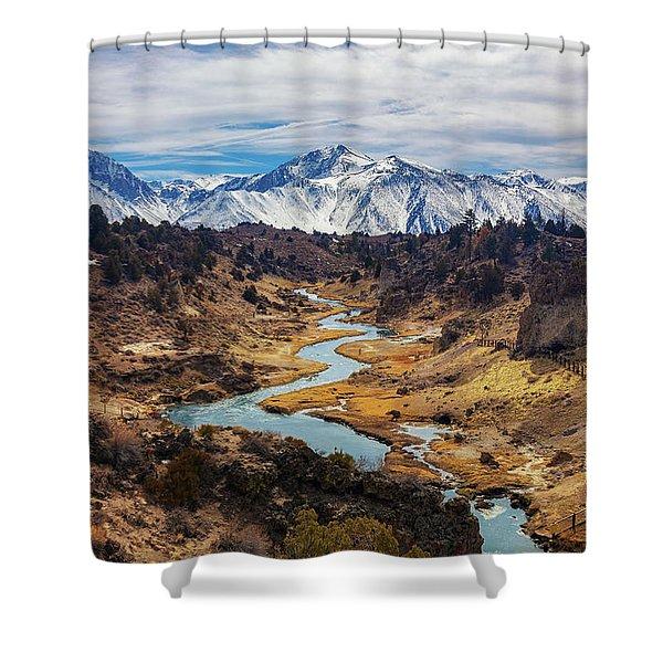 Hot Creek Shower Curtain